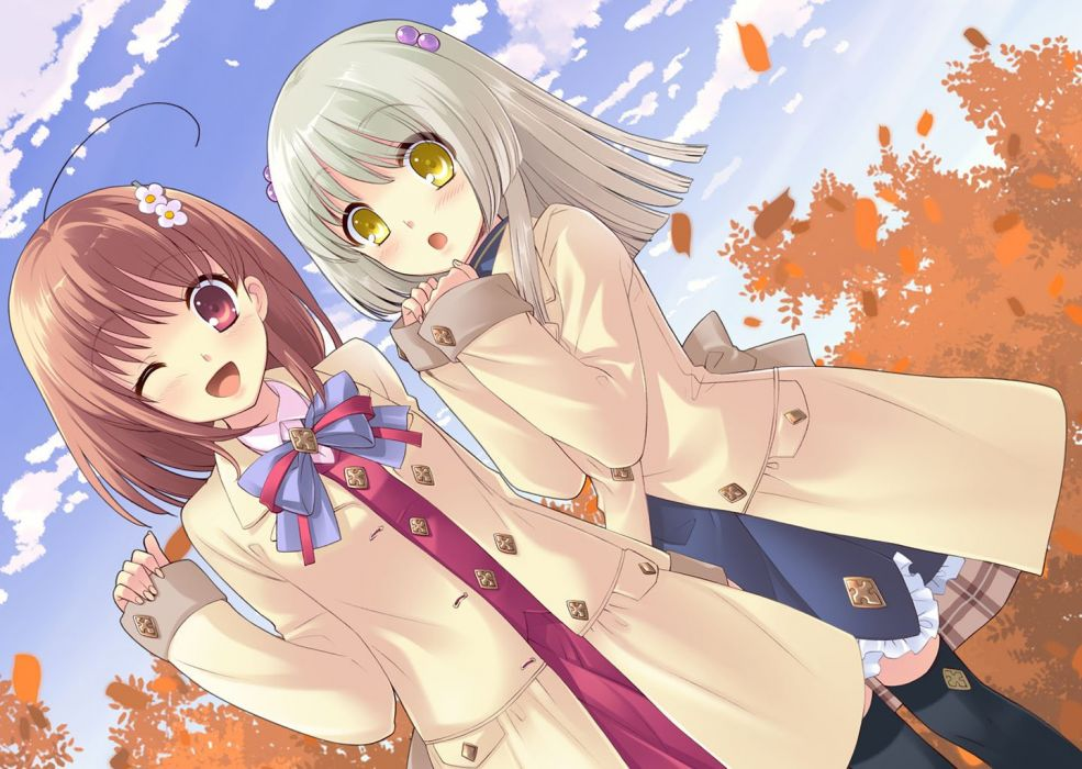 anime girl beautiful anime girl friends group cute wallpaper