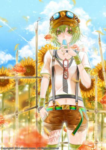 anime girl beautiful animal glasses green eyes green hair hairpins hat ice cream nail polish shorts thigh highs wallpaper