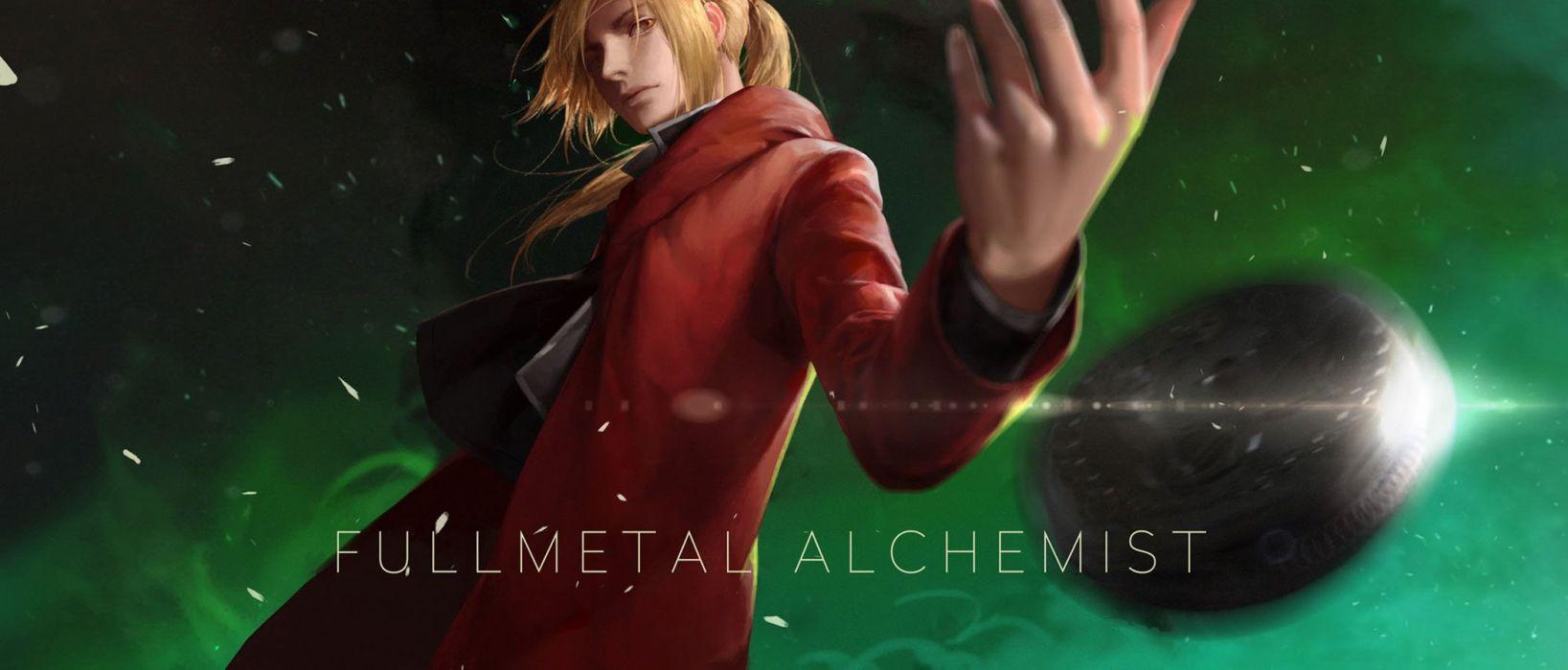 anime male blonde hair edward elric fullmetal alchemist green lightofheaven long hair male wallpaper