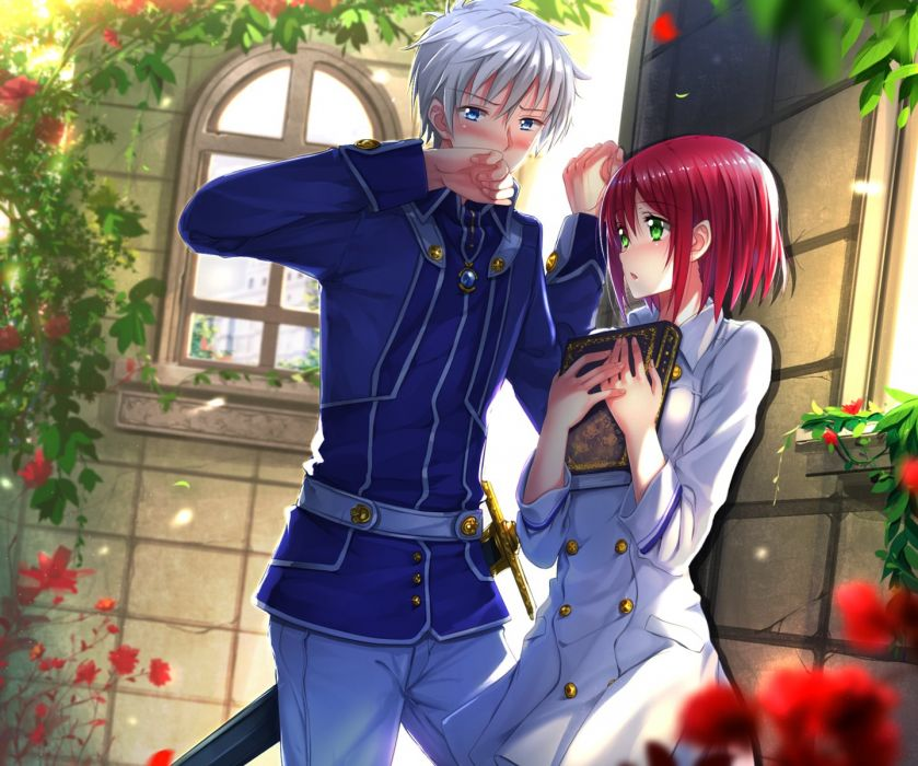 anime girl beautiful Akagami no Shirayukihime anime series couple rose anime girl boy love wallpaper