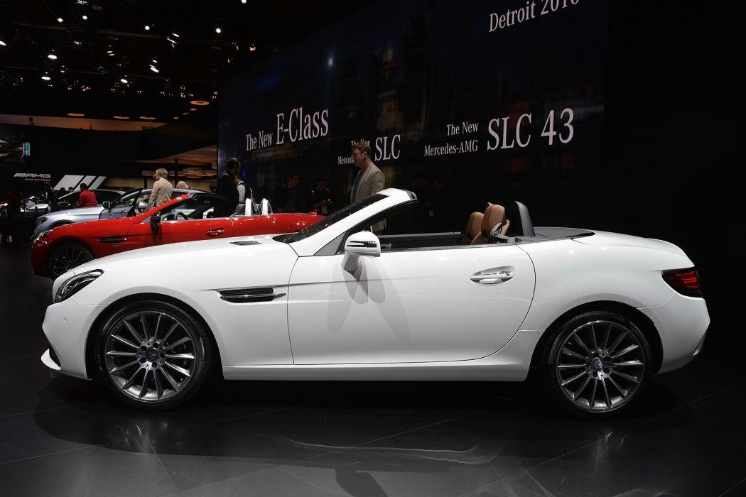 2016 Detroit Auto Show Mercedes SLC Convertible cars wallpaper