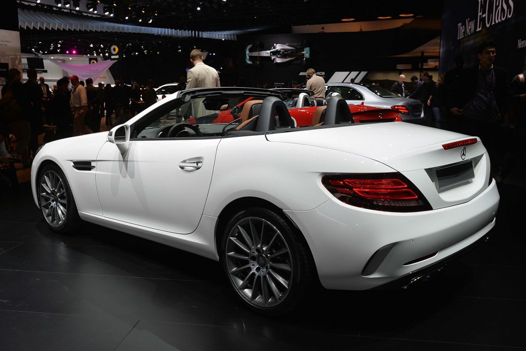 2016 Detroit Auto Show Mercedes SLC Convertible cars wallpaper