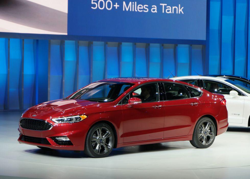 2016 Detroit Auto Show Ford Fusion Sport sedan cars wallpaper
