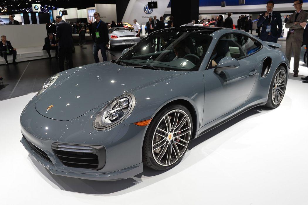 2016 Detroit Auto Show Porsche 911 Turbo cars wallpaper