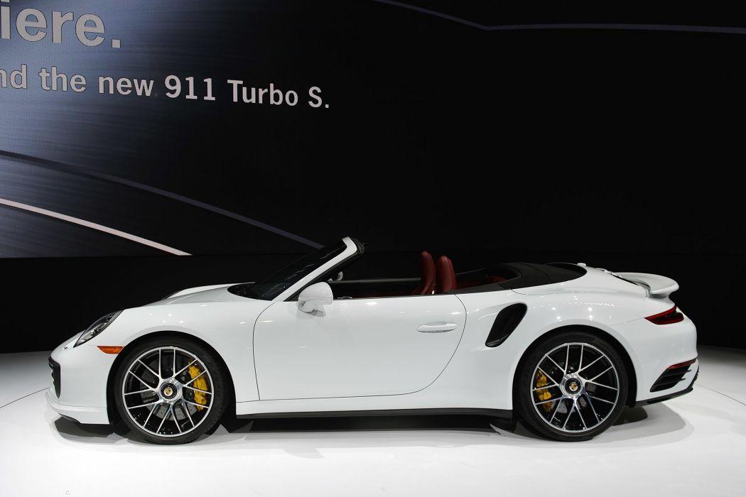 2016 Detroit Auto Show Porsche 911 Turbo S CABRIOLET cars wallpaper