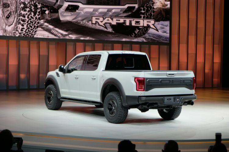 2016 Detroit Auto Show Ford F-150 Raptor SuperCrew pickup cars wallpaper