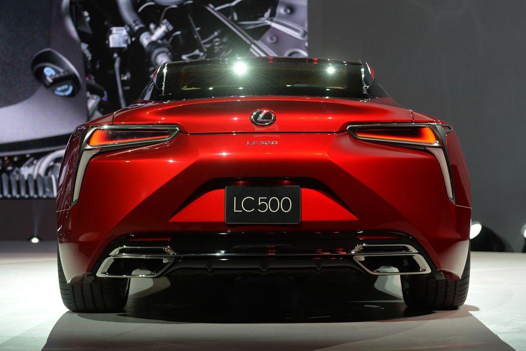 2016 Detroit Auto Show Lexus LC-500 coupe cars wallpaper