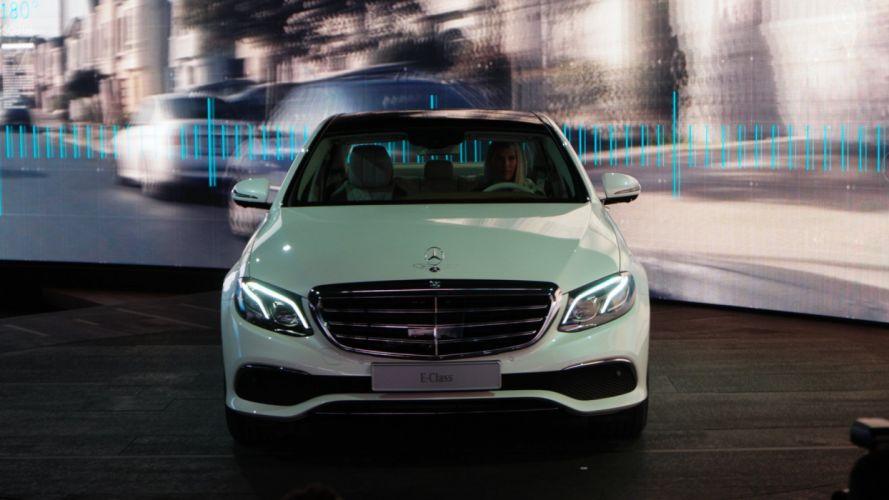 2016 Detroit Auto Show 2016 Mercedes Benz E-Class sedan cars wallpaper