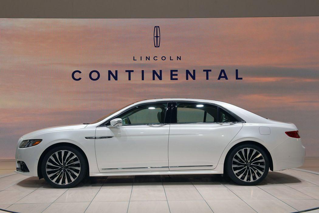 2016 Detroit Auto Show 2016 Lincoln Continental sedan cars wallpaper