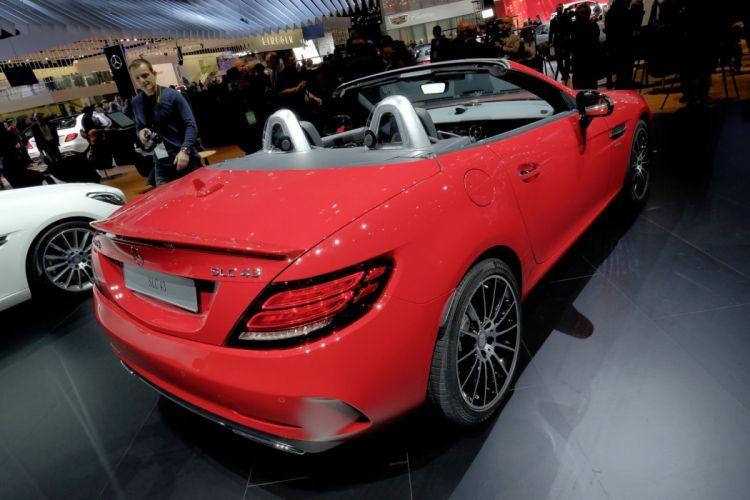 2016 Auto cars convertible detroit Mercedes show SLC 43 amg wallpaper
