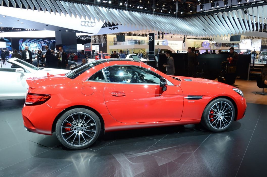 2016 Auto cars convertible detroit Mercedes show SLC 43 amg wallpaper