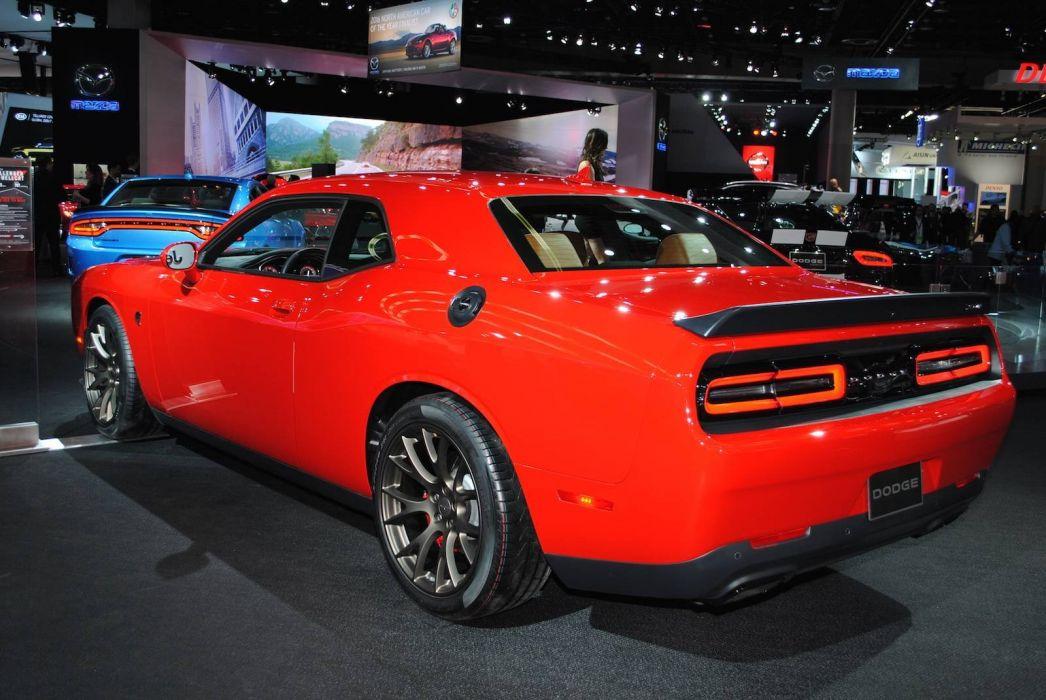 2016 Auto cars detroit show Dodge Challenger SRT Hellcat wallpaper