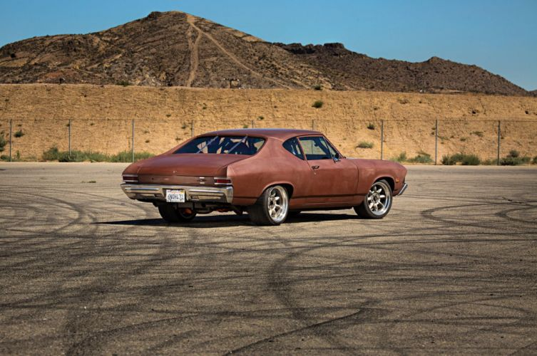 1968 Chevrolet Chevelle hot rod rods muscle classic custom wallpaper