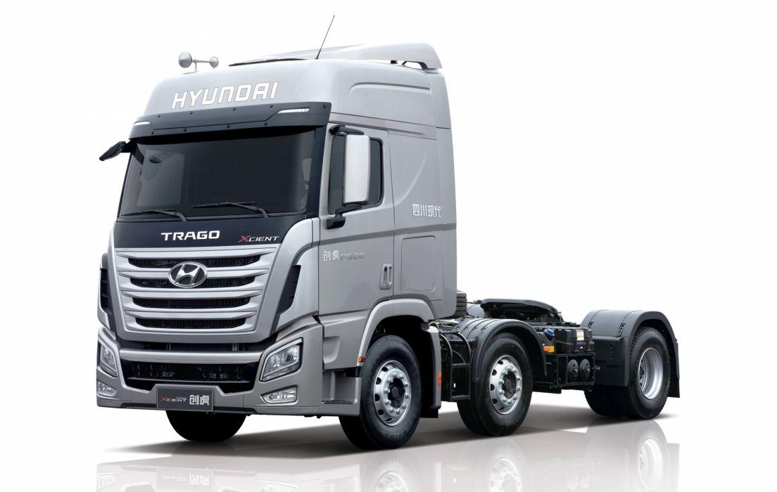 2013 Hyundai Trago Xcient 6x4 Tractor semi wallpaper