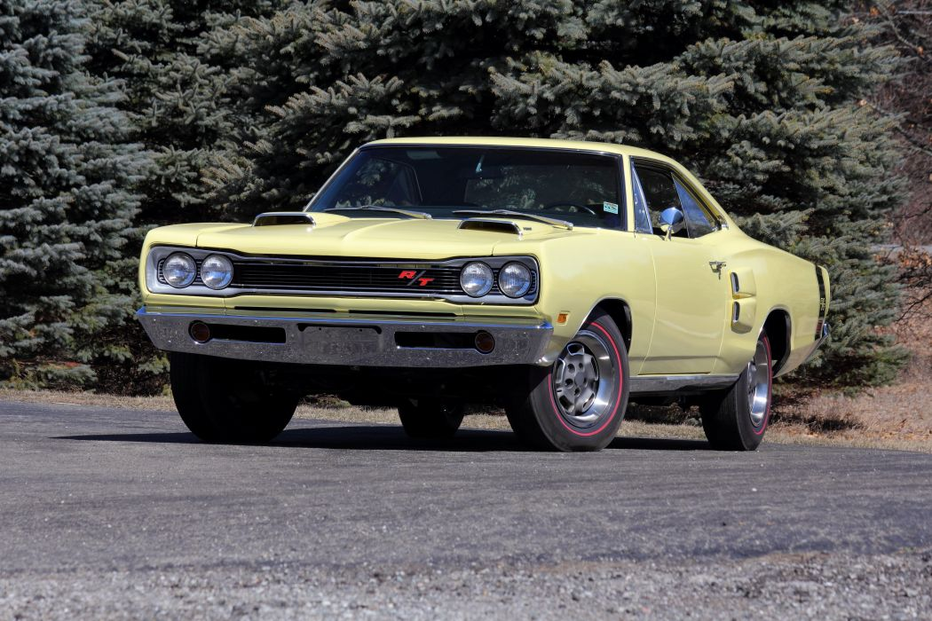 1969 Dodge Coronet R-T Hemi Hardtop Coupe WM23 mopar muscle classic wallpaper