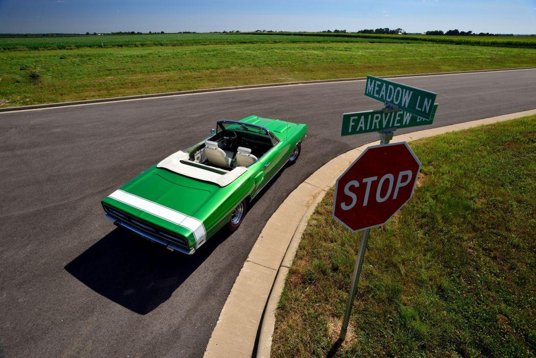 1969 Dodge Coronet R-T Hemi Convertible WS27 mopar muscle classic wallpaper
