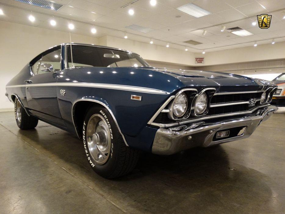1969 Chevrolet Chevelle SS Tribute cars blue wallpaper