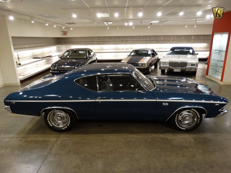 1969 Chevrolet Chevelle SS Tribute cars blue wallpaper