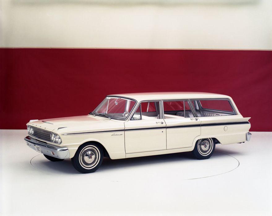 1963 Ford Fairlane 500 Ranch Wagon 71D stationwagon classic wallpaper