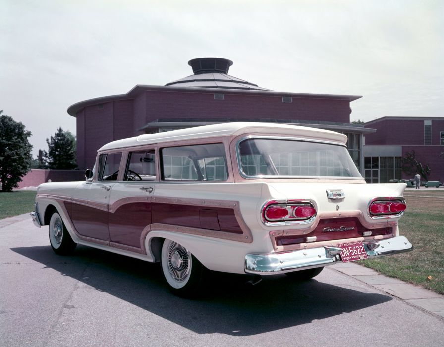 1958 Ford Country Squire 79E stationwagon classic wallpaper