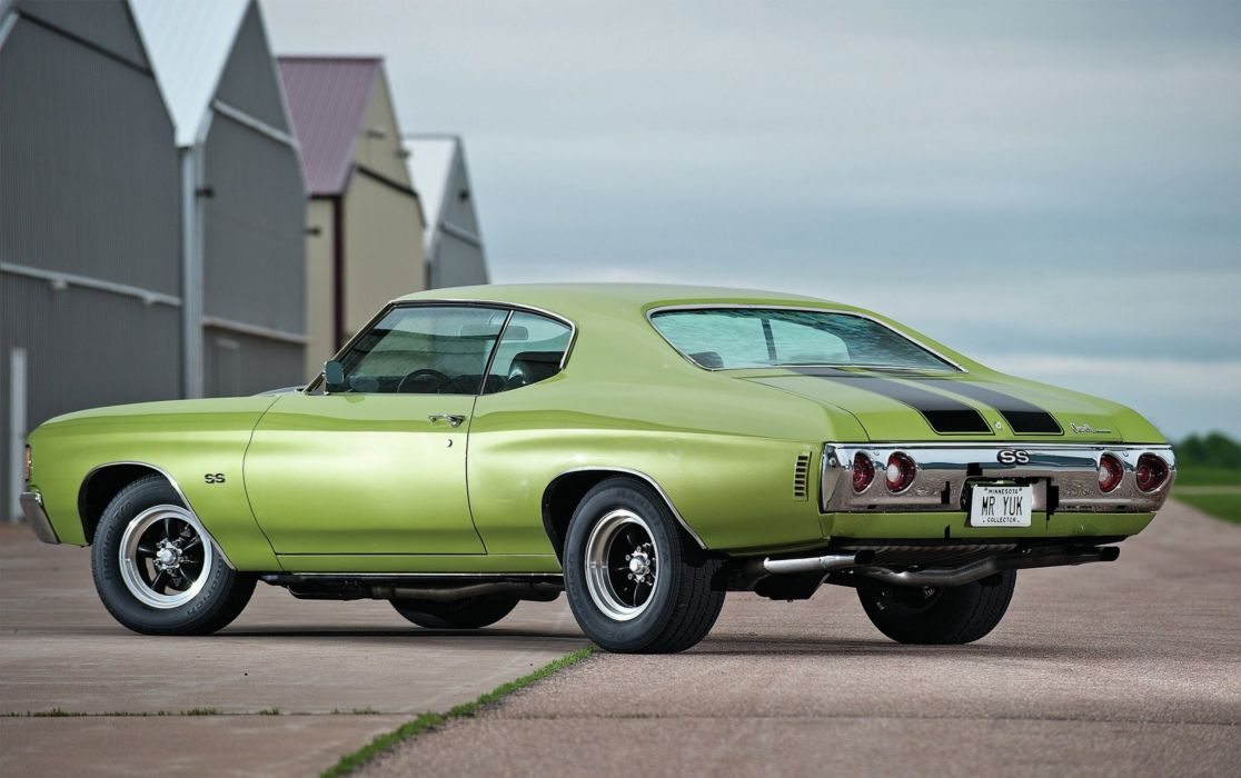 1972 Chevrolet Chevelle S-S Hardtop Coupe 1C-37 muscle classic wallpaper