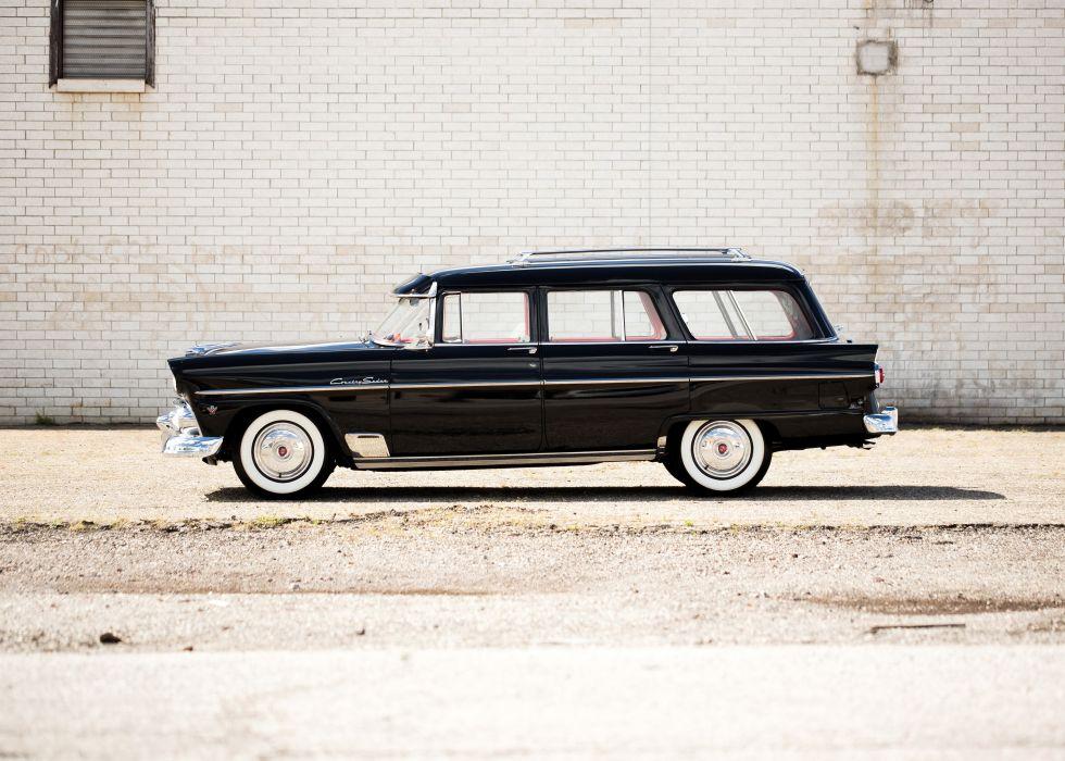 1955 Ford Country Sedan 6-passenger U5-79D stationwagon retro wallpaper