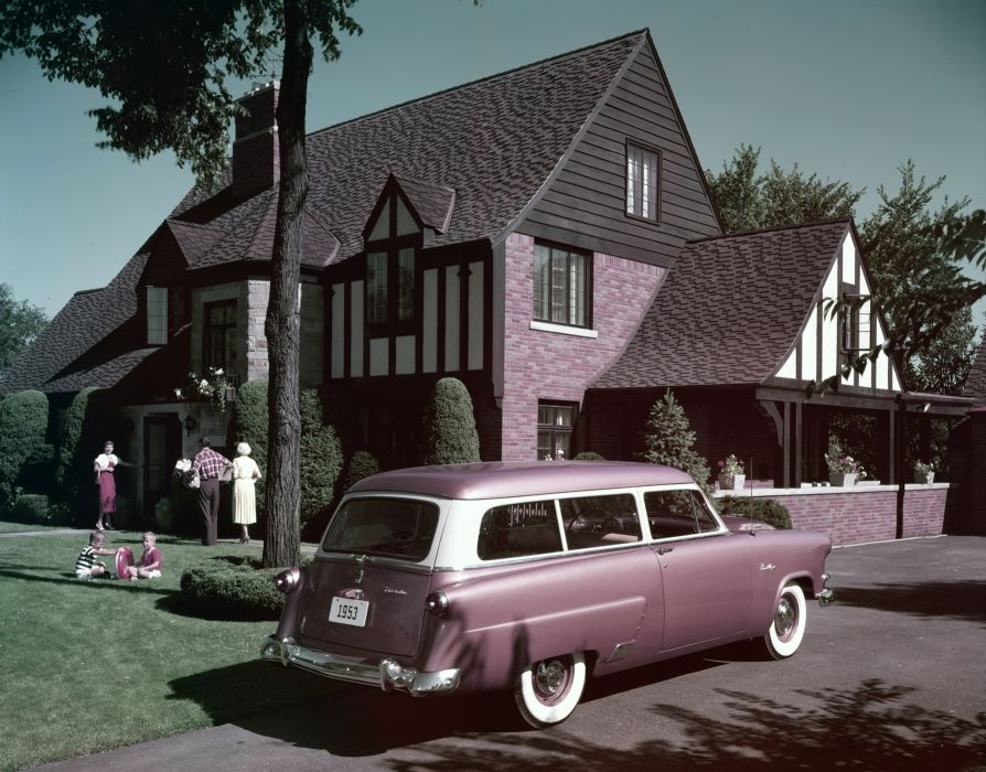 1953 Ford Mainline Ranch Wagon B3-59A stationwagon retro wallpaper
