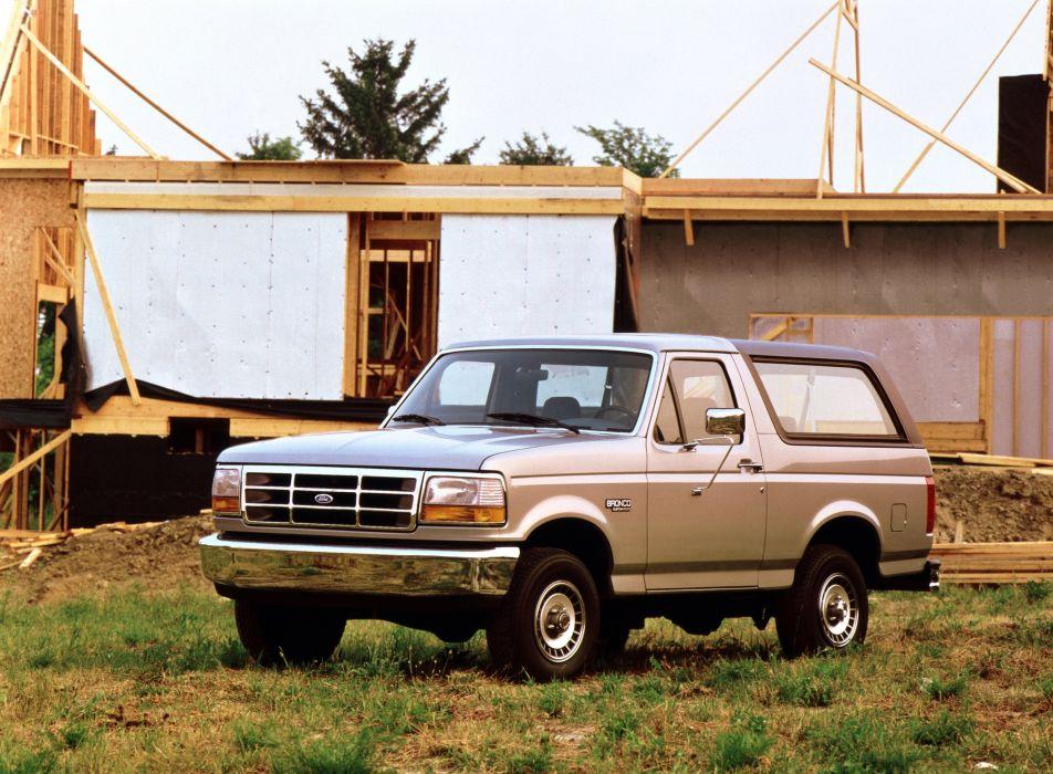 1992 Ford Bronco Custom U15 suv 4x4 wallpaper