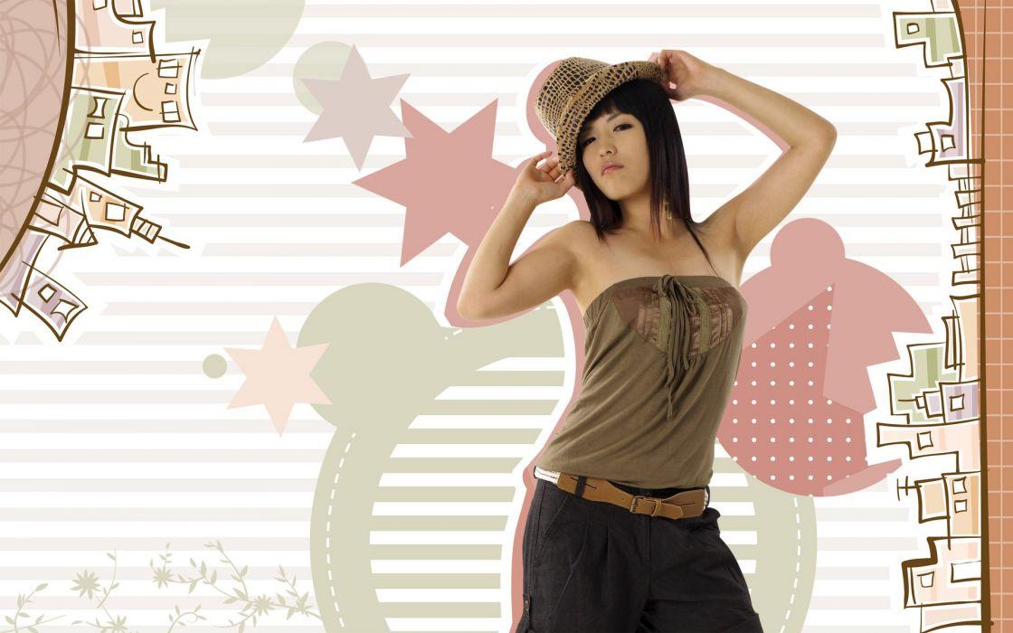 chica asiatica modelo wallpaper