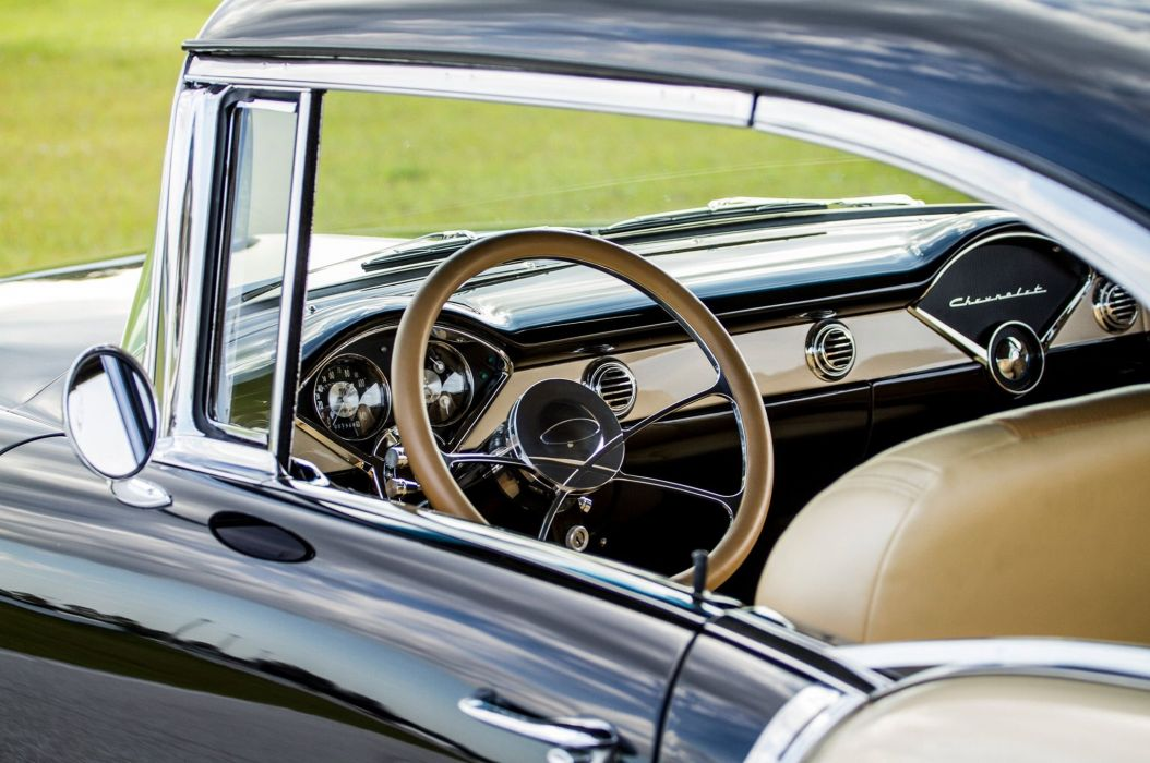 1955 Chevrolet 210 hardtop hot rod rods custom retro wallpaper