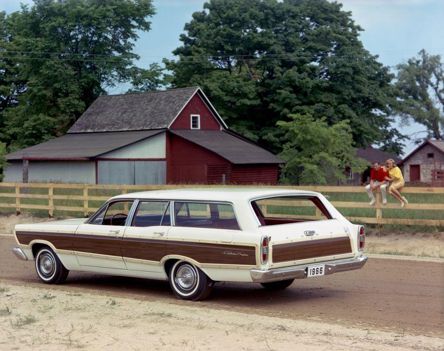 1966 Ford Fairlane 500 Squire StationWagon 71E wallpaper