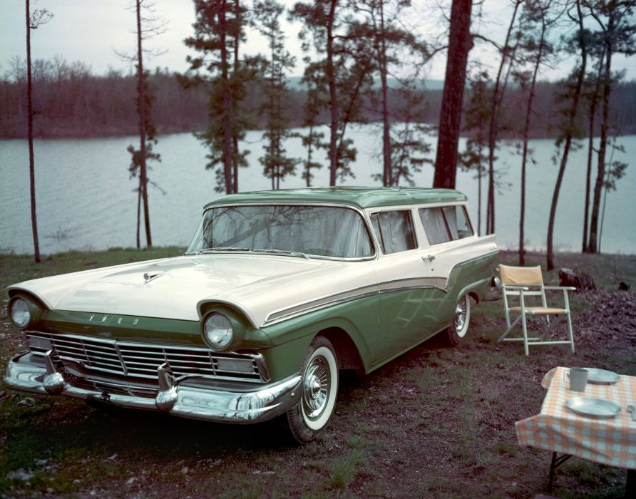 1957 Ford Del Rio Ranch Wagon 59B stationwagon retro wallpaper