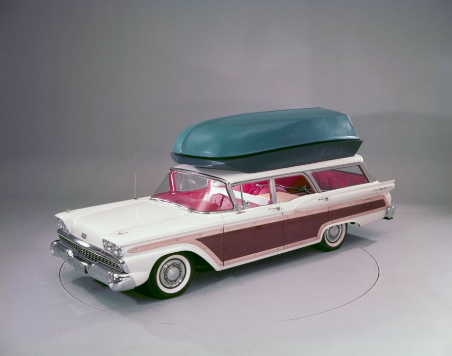 1959 Ford Country Squire 71G stationwagon retro g wallpaper