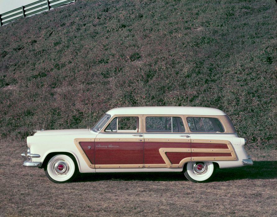 1954 Ford Crestline Country Squire 79C stationwagon retro g wallpaper