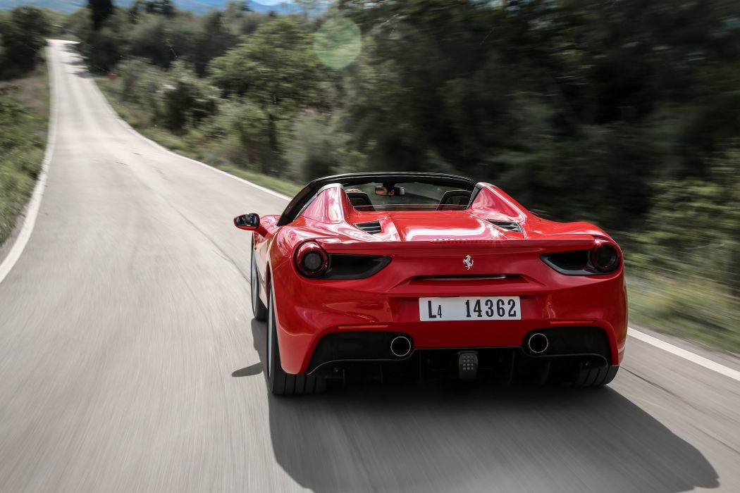 2015 Ferrari 488 Spider supercar wallpaper