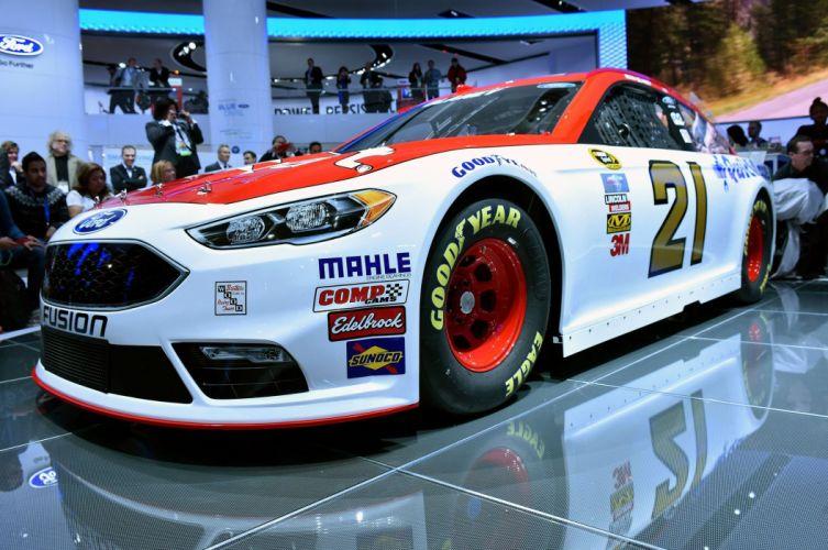 2016 Ford Fusion NASCAR race racing wallpaper