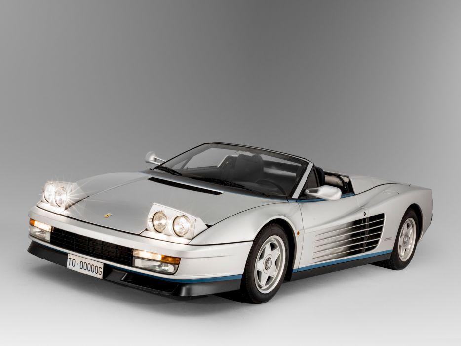 1986 Ferrari Testarossa Spider Pininfarina supercar classic wallpaper