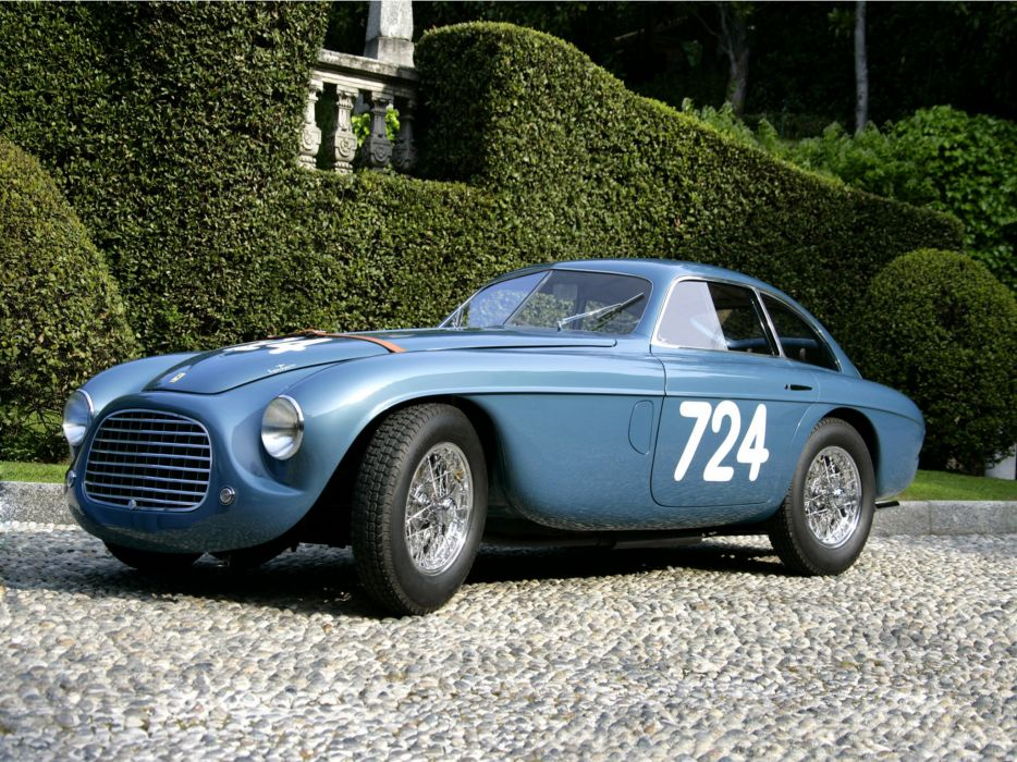 1950 Ferrari 166 M-M 195 S Berlinetta L-M 0026M Touring race racing supercar retro wallpaper