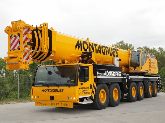 2010 Liebherr LTM 1350-6-1 crane semi tractor construction wallpaper