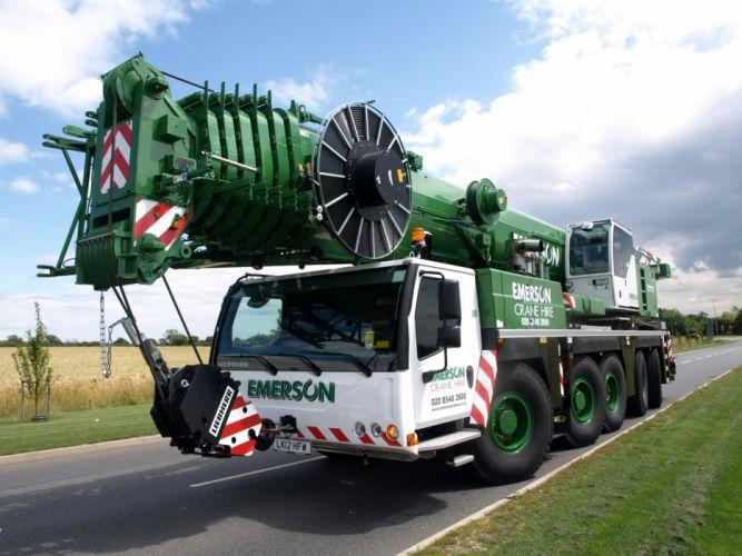 Liebherr LTM 1130-5-1 crane construction semi tractor wallpaper