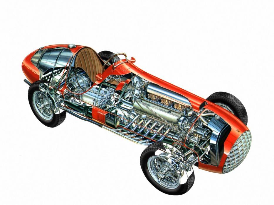 1950 Ferrari 375 F-1 formula race racing retro wallpaper