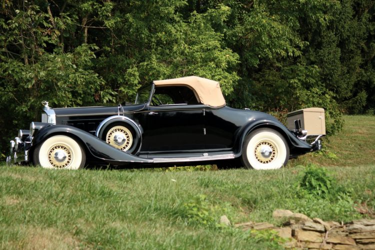 1933 Pierce Arrow Twelve Convertible Coupe Roadster 1242 luxury vintage wallpaper
