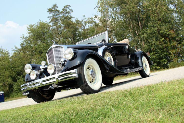 1933 Pierce Arrow Twelve Convertible Coupe Roadster 1242 luxury vintage wallpaper