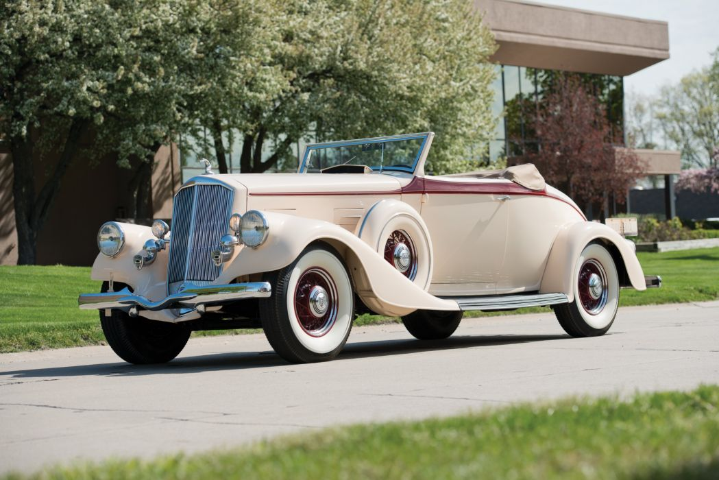 1934 Pierce Arrow Twelve Convertible Coupe Roadster 1240A luxury vintage wallpaper