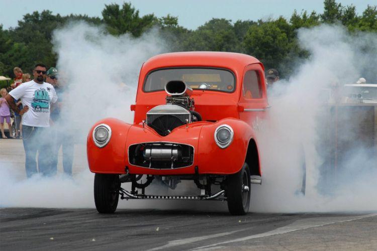 1941 Willys Gasser Pickup drag race racing retro hot rod rods custom wallpaper