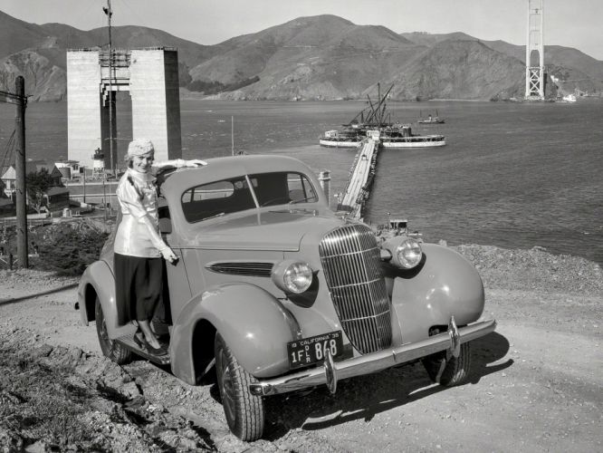 1935 Oldsmobile Eight Series-L Sport Coupe vintage wallpaper