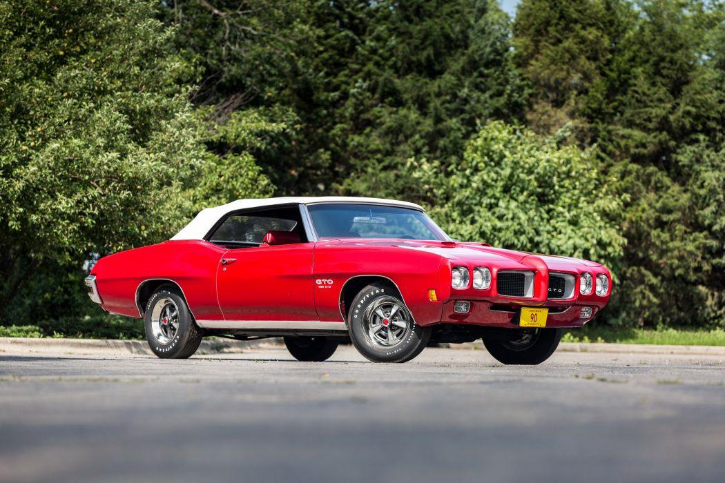 1970 Pontiac GTO 455 Convertible muscle classic wallpaper