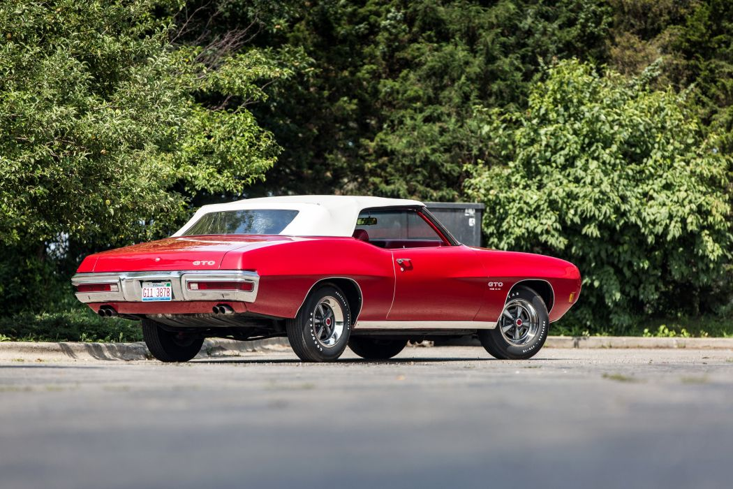 1970 Pontiac GTO 455 Convertible muscle classic wallpaper