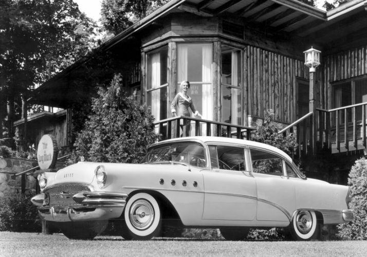 1955 Buick Roadmaster Riviera Sedan retro luxury wallpaper