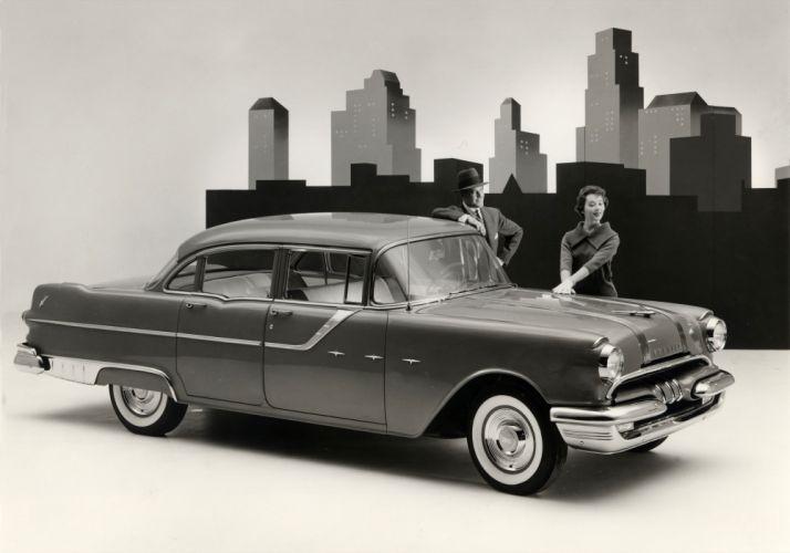 1955 Pontiac Star Chief Custom Sedan retro wallpaper